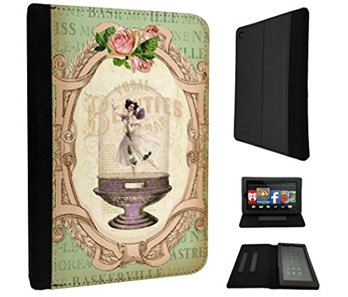 532 - Vintage Shabby Chic Victorian Floral Roses Vase Ballet Dancer Design Amazon kindle Fire HD 8, 8