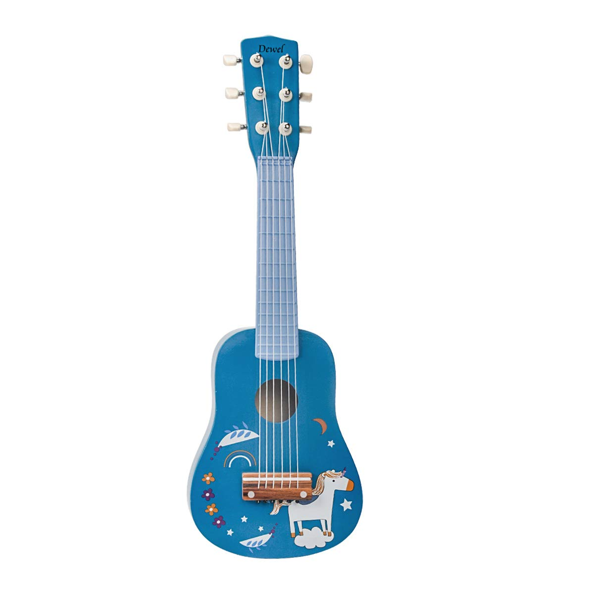 DEWEL Kids Ukulele Toy Guitar for Toddlers, Baby Kids Cute Guitar Rhyme Developmental Musical Instrument Educational Toy