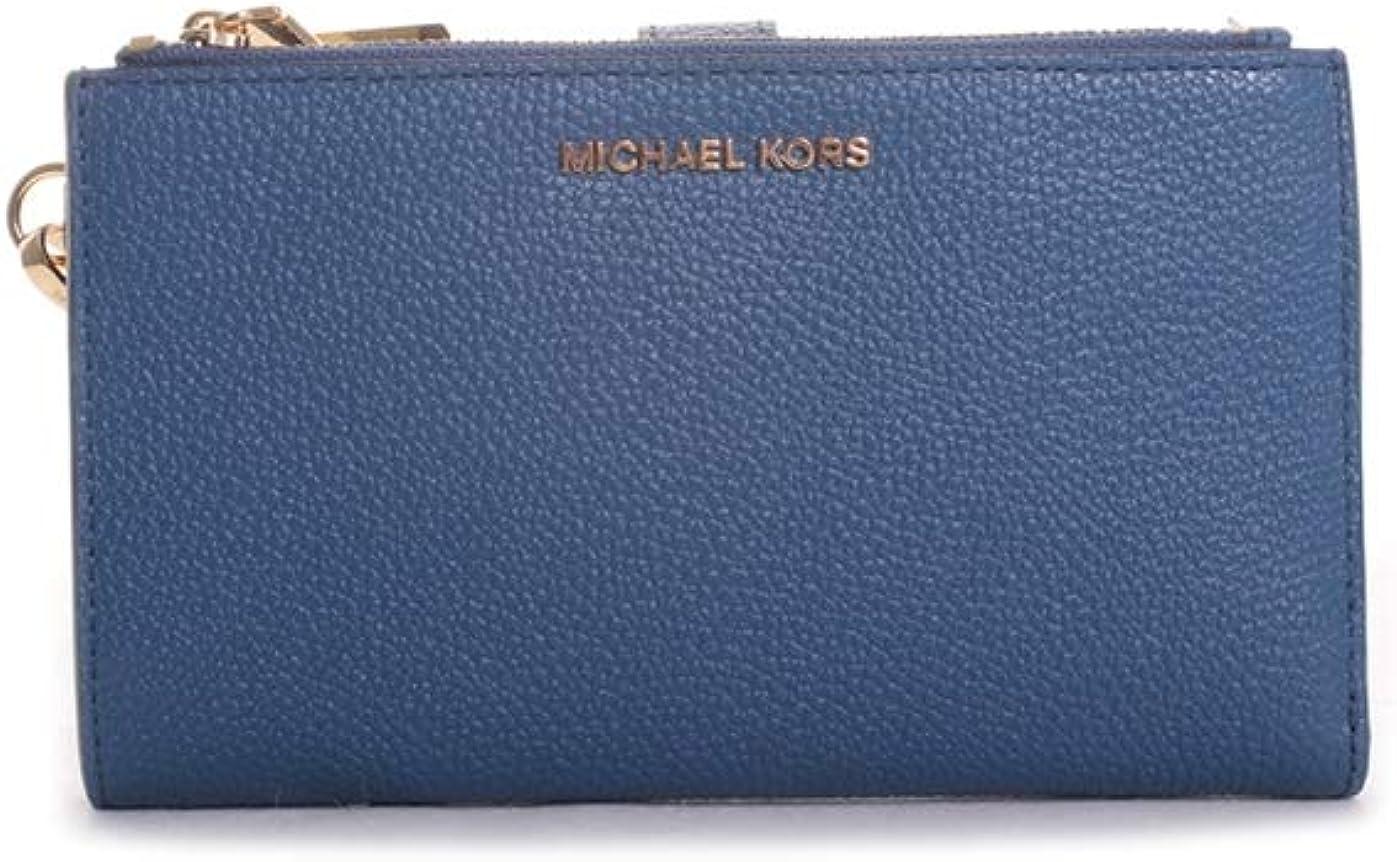 MICHAEL Michael Kors Double Zip Wristlet Dark Chambray One Size