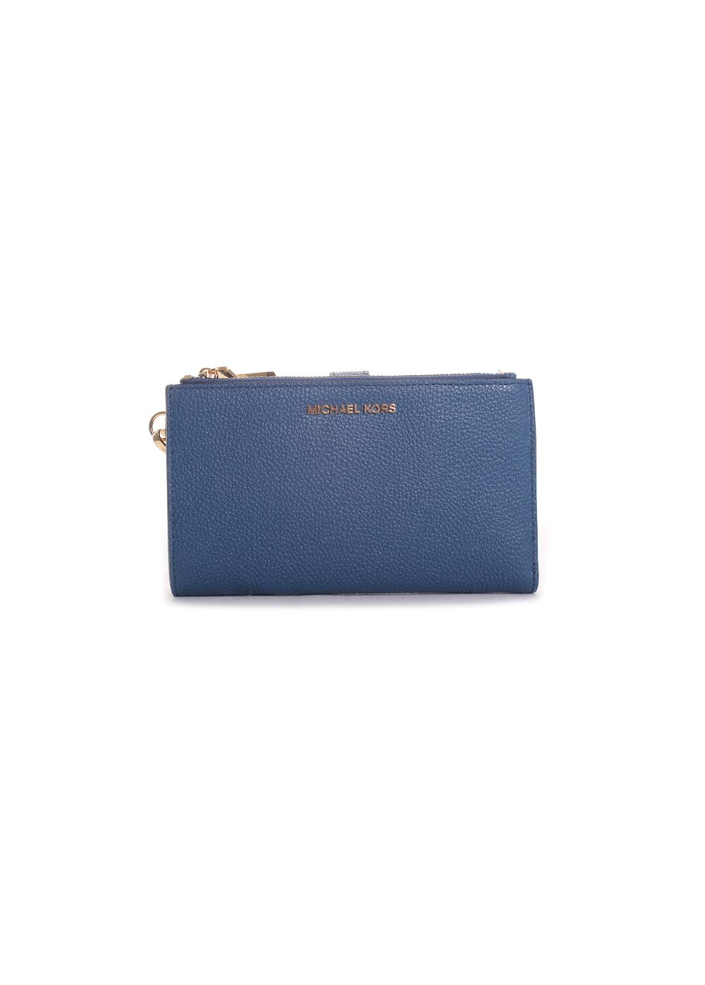 Michael Kors Double Zip Leather Wristlet in Dark Chambray by Michael Kors (Image #1)