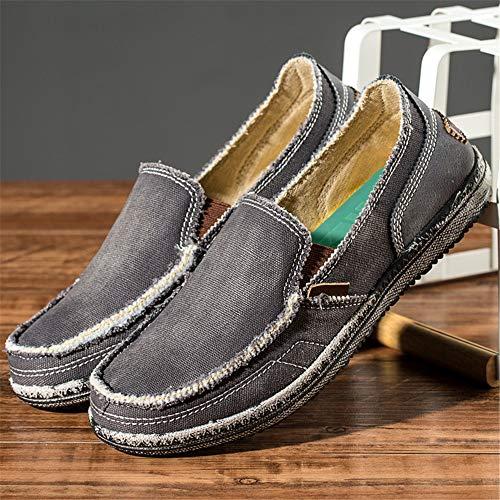 tip Suaves Classic Casual color Suelas Qiusa Redonda Jean For Shoes Antideslizante Men 44 Tamaño Gris Punta Eu U wSv7qC