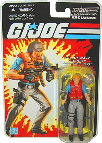 (JoeCon 2013 GI Joe Convention Exclusive Topside Navy Security 3 3/4 Inch Action Figure)