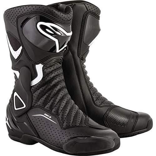 (Alpinestars SMX-6 V2 Vented Women's Street Motorcycle Boots - Black/White / 38)