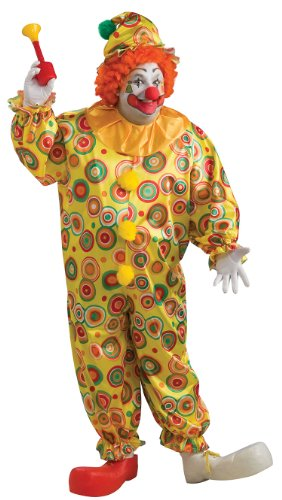Plus Size Jack The Jolly Clown Costume - Mens Full 46-52