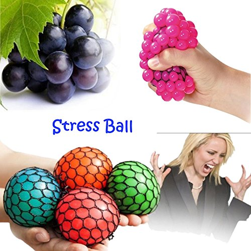 Top Anti-stress Squeezing Grape Mesh Ball /Relieve Pressure 1 PC Squishy Relief Toys COLOR RANDOM for sale