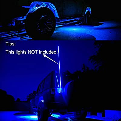 Amak 4 Pods LED Rock Light Kit for JEEP ATV SUV Offroad Car Truck Boat Underbody Glow Trail Rig Lamp Underglow LED Neon Lights Waterproof: Automotive