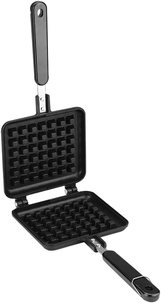 Non Stick Waffle Iron 30 x 14.5cm, Waffle Maker Pan No Noxious or Additives in the Material, for Belgian Waffles Sandwich Toaster, Breakfast and More