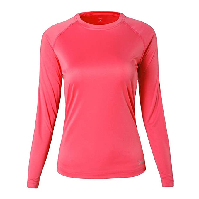 60ebb3f1e570 Women s Compression Shirt Sport Performance Crewneck Long-Sleeve T Shirt (S