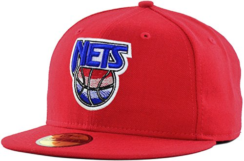 (New Jersey Nets NBA Hardwood Classics NEFS Basic 59FIFTY Cap Red