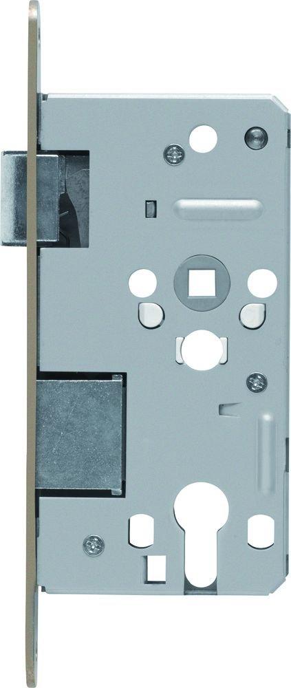 ABUS Tü r-Einsteckschloss Profilzylinder TKZ70 HG R hammerschlag-gold fü r DIN-rechts Tü ren 20819 208195