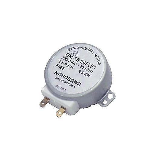 Recamania Motor giraplatos microondas Standard Eje 10 mm 5/6 RPM 1 ...