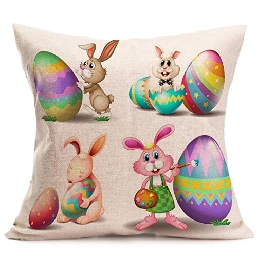 Bedroom Furniture Easter Sale: Tiean Pillow Case, Easter Eggs Bunny Sofa Bed Cushion