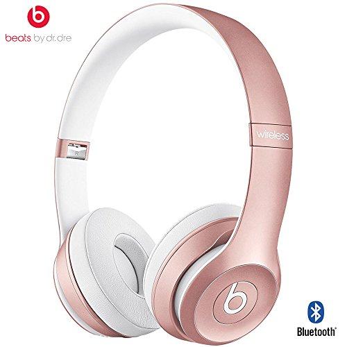 Beats By Dre Solo2 Wireless On-Ear Headphone, MHNM2ZM/A - (Certified Refurbished) (Rose Gold)