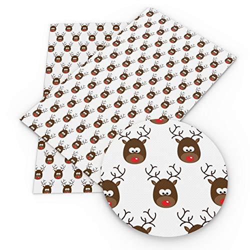 1Pcs 20x34cm Christmas Halloween Faux Artificial Synthetic-Faux Artificial Synthetic Leather Fabric Hair Bows-Synthetic Leather Fabric Sheets-Synthetic Leather Sheets Crafts-PVC Leather Fabric (N10) -