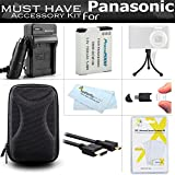 Must Have Accessory Kit For Panasonic ZS50, DMC-ZS45K, DMC-ZS40K, DMC-ZS35K, DMC-ZS30, DMC-TS6 Camera Includes Replacement DMW-BCM13E Battery + Charger + Case + More