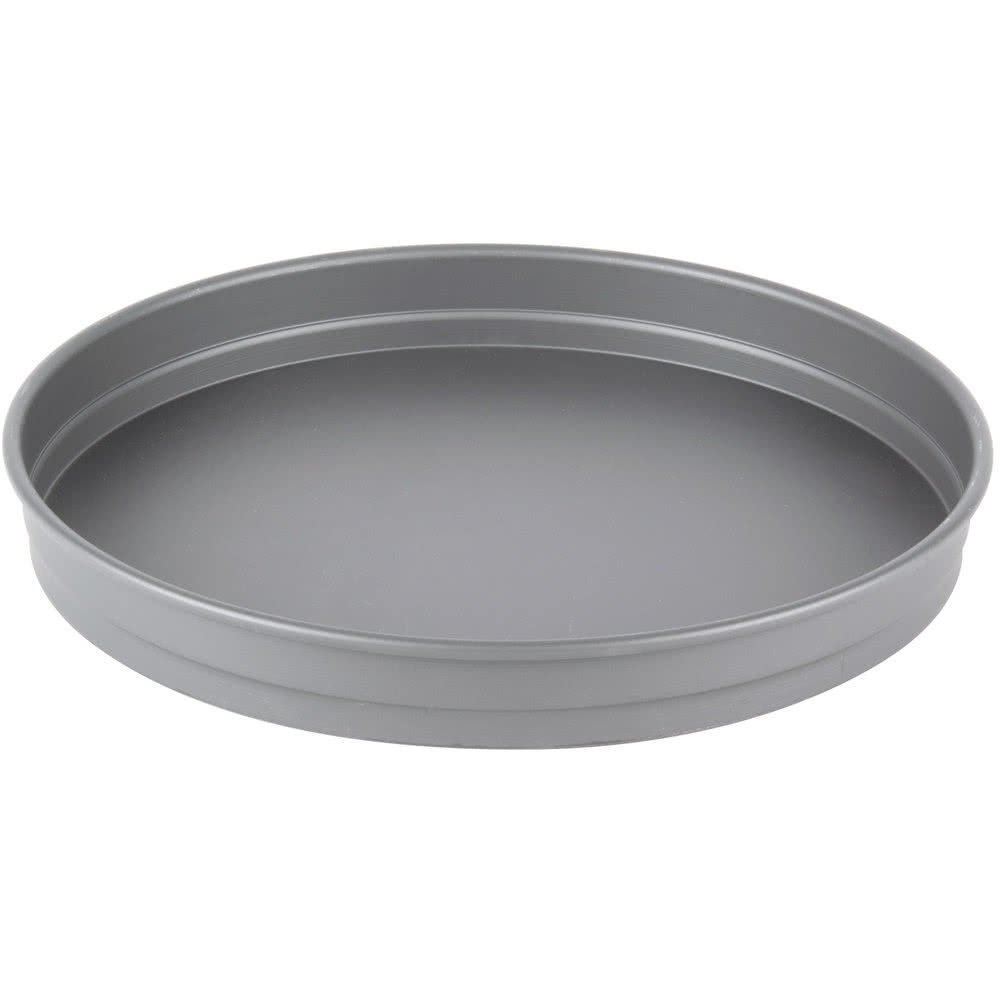 TableTop king HC5113 13'' x 1 1/2'' Hard Coat Anodized Aluminum Straight Sided Pizza Pan