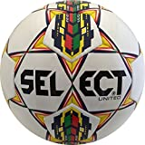 Select United Soccer Ball, White/Multicolor, 3