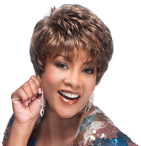 [Vivica A. Fox AMY-V Synthetic Fiber, PS Cap Wig in Color 51] (50s Wig)