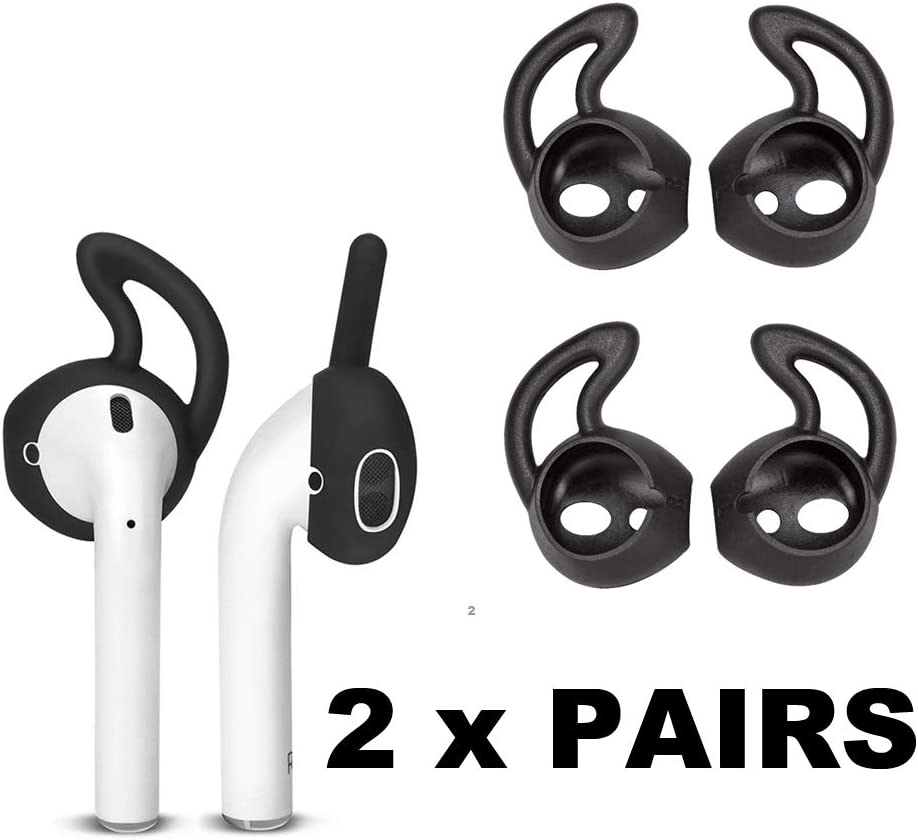 Compatible with Apple AirPods 1 /& 2 TPU Gel Protective Case//Carabiner Keychain//Ear Hooks//Strap//Watch Band Holder - 7 in 1 AirPods Accessories Set Mardi Gras Carnival Pattern