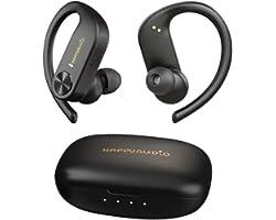 HAPPYAUDIO S1 Auricular Bluetooth 5.0 TWS Audífonos inalambricos Deportes con Ganchos para los oídos Micrófono Incorporado Ca