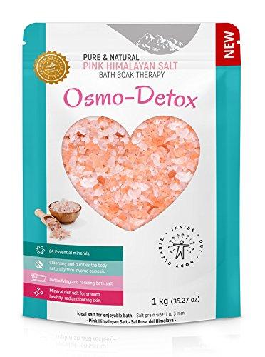 Osmo-Detox. Sal rosa del Himalaya, para baños desintoxicantes y relajantes. 1 kg