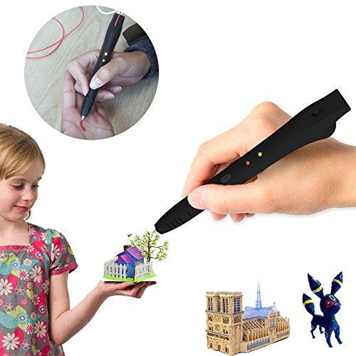 3D Printing Pen kit for Kids,3D Doodler Art Crafts Drawing Printer Pen Non-Clogging Suitable for Modeling Education(Black) by Generic