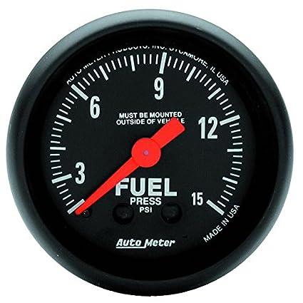 MECH Z-SERIES NO TUBING 0-15 PSI Autometer 2603 2 FUEL PRESS