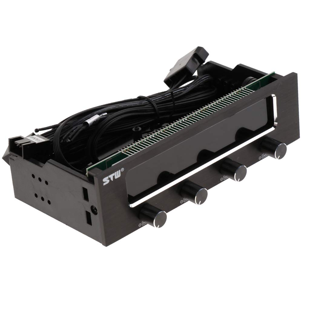 Homyl 4 Channel Fan Controller Panel w/Wide LCD Display Temperature Monitor by Homyl (Image #10)