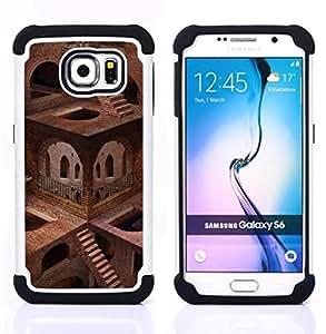 - Architecture Impossible Stairs/ H??brido 3in1 Deluxe Impreso duro Soft Alto Impacto caja de la armadura Defender - SHIMIN CAO - For Samsung Galaxy S6 G9200