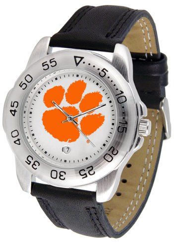 (NCAA Clemson Tigers Sport Watch with Stainless Steel Band)