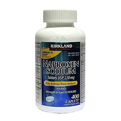 Cos13 Kirkland Signature Extra Strength Naproxen Sodium 220mg Last 12 Hours Pain Fever Reliever - 400 Caplets