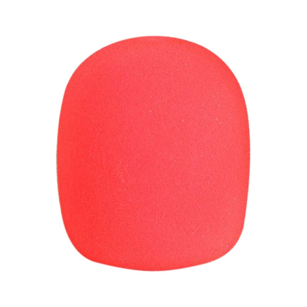 Bodhi2000 5 Pack Microphone Sponge Cover Foam Ball-Type Mic Windscreen (Red) 14426