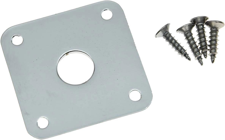 Kaish jack in metallo cromato piatto fondo piatto quadrato rivestimento per Gibson Les Paul