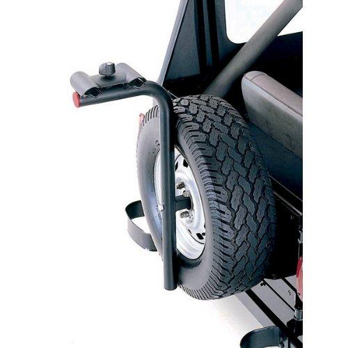 Rugged Ridge 11237.10 Tire Carrier Bike Rack (Tire Spare Carrier Lockable)