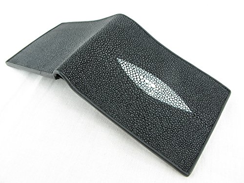 Leather Black Stingray Wallet Skin Genuine PELGIO PELGIO Genuine Bifold BqXfq