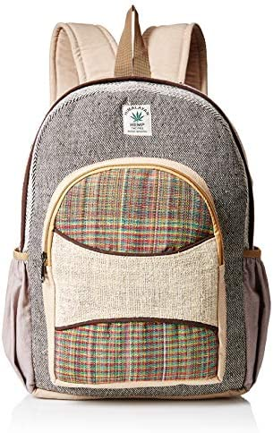 Himalayan 100 Hemp Backpack with Laptop Sleeve – Handmade in Nepal