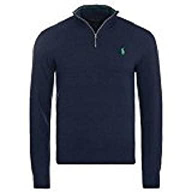 bons plans sur la mode choisir officiel style actuel RALPH LAUREN - Pull demi-zippé Ralph Lauren en laine bleu ...