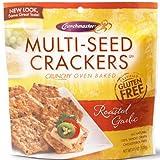 Crunchmaster Roasted Garlic Crackers 4.5oz Pack of 2