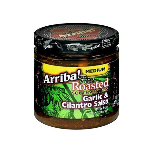 Arriba! Garlic & Cilantro Salsa, 16-Ounce Glass (Pack of 6)