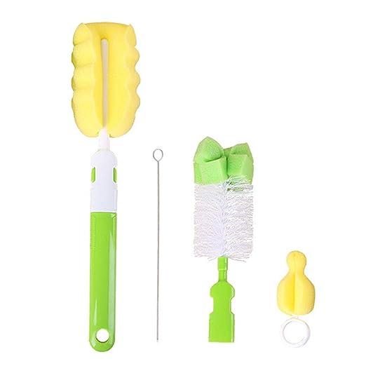 Rekkles 4pcs / Set Cepillo de Botella Esponja plástica del ...