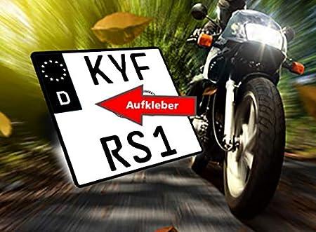 Motorrad Nummernschild Kennzeichen Aufkleber Eu Feld In Schwarz überkleben Im Moment Der Trend In Der Tuning Szene Auto