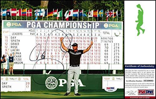Signed Jason Day Photo - 8x10 Championship Tour Coa - PSA/DNA Certified - Autographed Golf Photos (Certified Photo 8x10 Golf Autograph)
