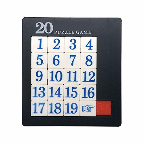GARASANI Number Slide Puzzle Brain Teaser IQ Game (19 Number)