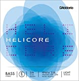 D'Addario Helicore Hybrid Bass Single E String, 3/4 Scale, Light Tension