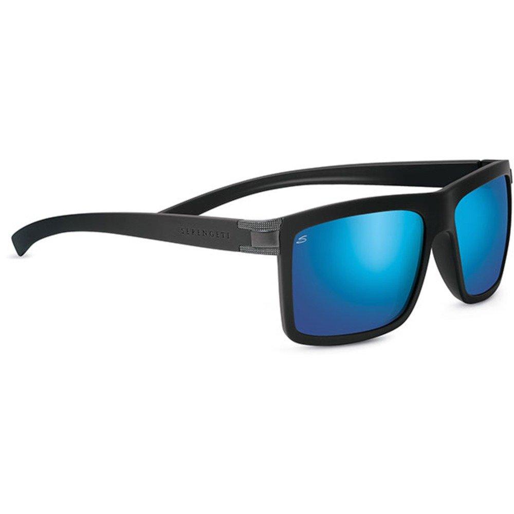 Serengeti Brera gafas de sol polarizadas 555nm, Unisex, Brera Polarized 555nm, Sanded Black/Blue, me...