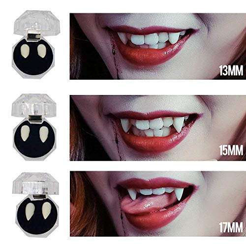 JBENG Halloween Party Cosplay Prop Decoration Vampire Tooth Horror False Teeth -6 pieces]()