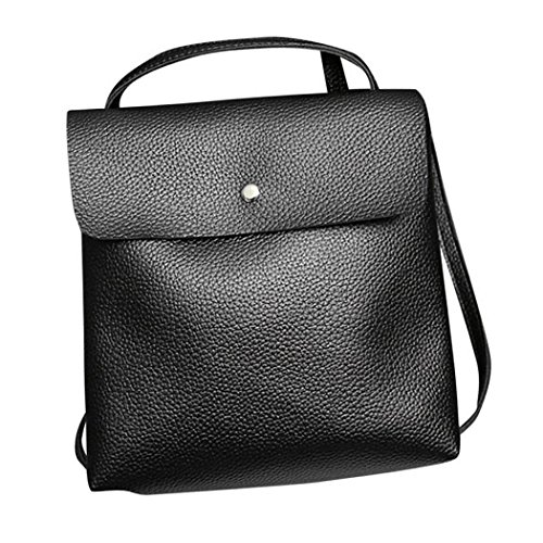 Womens Inkach Bags Rucksack Fashion Satchel Leather Purse Backpack Travel Black Bag School 7qfdxwqSp
