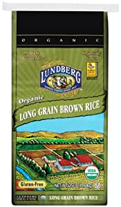 Amazon.com : Lundberg Organic Long Brown Rice, 25 Pound
