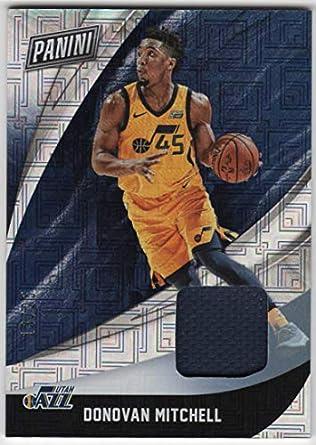 c1b64b374 Donovan Mitchell 2018 Panini Black Friday Rapture Parallel Jersey Card  Serial  13 25 Utah
