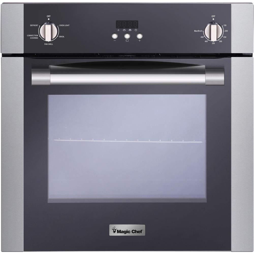 Magic Chef Electric MCSWOE24S 24'' 2.2 cu. ft. Single Wall Oven with Convection, Stainless Steel by Magic Chef